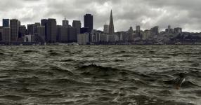 While San Francisco, seen here from Treasure Island, is less vulnerable to rising sea levels than other parts of the Bay Area, portions of areas bordering the bay would be at risk. Photo: Michael Macor, The Chronicle